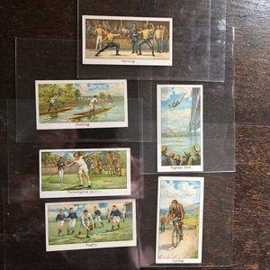 Vintage Ephemera Lot - 6 Turf Cigarettes Cards